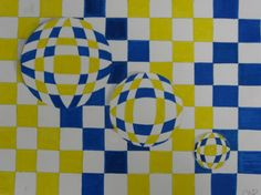 Kids love the power of being able to create optical illusions - and they're always shocked at how easy it is! I've done this lesson with stu. Art Optical, Optical Illusions, 6th Grade Art, Jr Art, Fibonacci Spiral, Illusion Art, Creative Teaching, Art Projects, Project Ideas