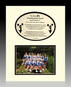 Items similar to Cheerleading Cheerleaderl Personalized Coach Thank you Gift photo team player on Etsy Cheer Coach Gifts, Cheer Coaches, Cheerleading Gifts, Cheer Gifts, Team Gifts, Cheer Bows, Cheerleader Gift, Diy Gifts, Cheer Camp