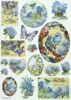 Rice Paper for Decoupage, Scrapbook Sheet, Craft Paper Birds and Blue Butterfly | Crafts, Multi-Purpose Craft Supplies, Crafting Paper | eBay!