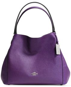COACH EDIE 31 SHOULDER BAG IN CROSSGRAIN LEATHER - Coach Handbags - Handbags  Accessories - Macys