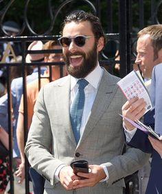 Aidan Turner's smart style with #Dunhill's opal grey #sunglasses #AidanTurner