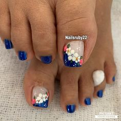 Cute Toe Nails, Cute Toes, Toe Nail Art, Acrylic Nails, Toe Nail Designs, Pedicure, Nailart, Finger, Nail Polish