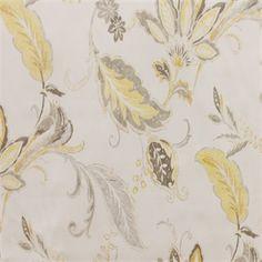 Klemscott Sunshine Yellow Cotton Floral Drapery Fabric by Richloom - SW51340 - | Discount By The Yard | Fashion Fabrics