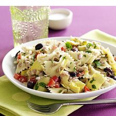 Heart Healthy Salad Recipes, Heart Healthy Tuna Pasta Salad Recipe For A Heart Healthy Diet Plan. Only 3 Weight Watchers Points For A Heart Healthy Lifestyle. Seafood Pasta Recipes, Easy Pasta Recipes, Pasta Salad Recipes, Side Dish Recipes, Fish Recipes, Recipe Pasta, Canned Tuna Recipes, Cooking Recipes, Vegetarian Cooking