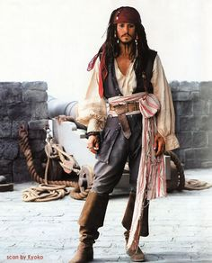 "AKA known as the coolest pirate ever.  Locally sourced fabrics and the ""lived-in"" details of Johnny Depp's costume really sells the idea that this rogue has been pillaging his way up and down the high seas!"