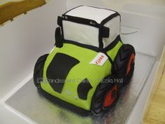 My very own Claas tractor cake design like my page at https://www.facebook.com/candescentcakes#!/pages/Candescent-Cakes/394055580631686?fref=ts x