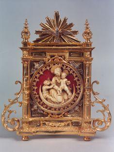 Portapaz de la Virgen de marfil | Piró Orfebres