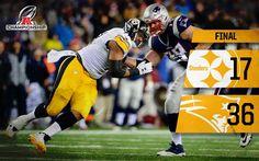 1/23/17 Pittsburgh Steelers ·  Final score in Foxborough.