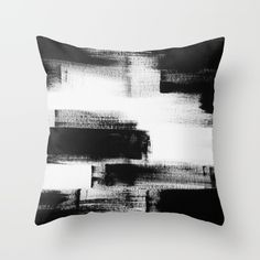 85 Modern Abstract Black And White Painting Couch Throw Pillow by Adriane Duckworth - Cover x with pillow insert - Indoor Pillow Black And White Pillows, White Throw Pillows, Modern Throw Pillows, Fluffy Pillows, Pillow Inspiration, Black And White Painting, White Art, Pillow Room, Decorative Cushions