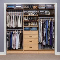 31 Wonderful Closet Design Ideas For Your Home. Unique closet design ideas will definitely help you utilize your closet space appropriately. An ideal closet design is probably the  Spare Bedroom Closets, Wardrobe Design Bedroom, Walk In Wardrobe, Wardrobe Closet, Master Closet, Bedrooms, Closet Space, Bedroom Decor, Bedroom Furniture
