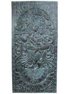 Radha Krishna Dancing Carved Wall Art Altar Meditation India Decor Wall Panels #mogulinterior #indianartist