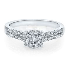 Helzberg Diamond Symphonies® 1/2 ct. tw. Diamond Engagement Ring in 14K Gold, available at #HelzbergDiamonds
