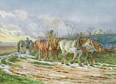 Farm Paintings - Homeward Bound  by Charles James Adams