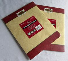 Classy Christmas Stationary Newsletter Copier Heavyweight Paper NIP 50 Sheets  #Ampad