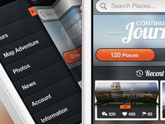 App Concept - UI:  accordion