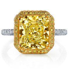 Reserve 18K Yellow #Gold, #Platinum & #Diamond #Engagement #Ring