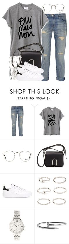 """""""Sin título #4111"""" by hellomissapple on Polyvore featuring moda, Current/Elliott, Sincerely, Jules, Ray-Ban, 3.1 Phillip Lim, adidas Originals, Forever 21 y FOSSIL"""