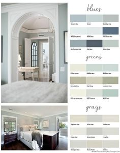 Popular bedroom paint colors and inspiration. The Creativity Exchange Popular bedroom paint colors and inspiration. The Creativity Exchange Interior Paint Colors, Paint Colors For Home, House Colors, Interior Design, Paint Colours, Interior Painting, Light Blue Paint Colors, House Color Schemes Interior, Soothing Paint Colors