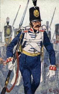 Reserve Line) Infantry Regiment Empire, Hundred Days, German Uniforms, Army Uniform, Napoleonic Wars, Old Things, Military, History, 18th Century