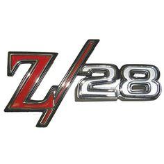 1969-1969 Chevy Camaro FENDER EMBLEM; 'Z-28'; 2 REQUIRED