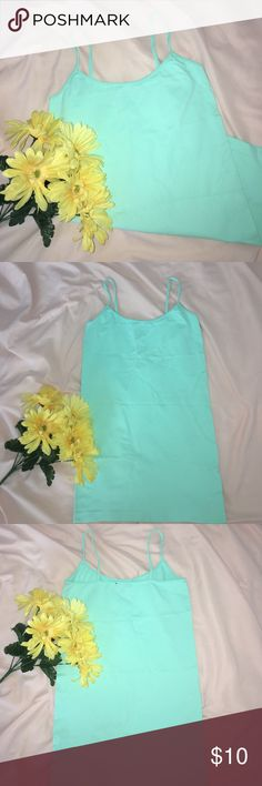 NWOT Mint Green Basic Tank Top 🌸 (Dolce Cabo) - A basic mint green tank to pair with any outfit or to wear underneath (for example with my Mint Green Dolce cabo Lace shirt in my closet)                                                                     - BRAND NEW, UNWORN                                                              - Purchased at Nordstrom Rack   🌸 MAKE AN OFFER 🌸 Nordstrom Tops Tank Tops