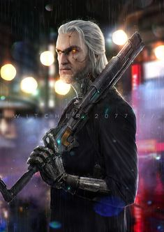 The Witcher/Cyberpunk 2077 crossover The Witcher, Witcher Art, Cyberpunk 2077, Character Concept, Character Art, Character Aesthetic, Science Fiction, Sf Wallpaper, Space Opera