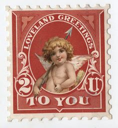 "Raphael Tuck Cupid ""Loveland Greetings To You"" Postage Stamp Card Valentines Design, Valentines Art, Vintage Valentine Cards, Valentines Day Decorations, Valentine Day Cards, Valentine Ideas, Saint Valentine, Valentine Cupid, Vintage Stamps"