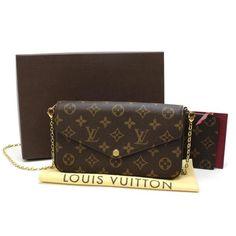 Louis Vuitton Felicie Monogram Shoulder bags Brown Canvas M61276
