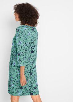Úpletové šaty s 3/4 rukávem zelená s potiskem - Žena - bonprix.cz High Neck Dress, Dresses, Fashion, Turtleneck Dress, Vestidos, Moda, Fashion Styles, Dress, Fashion Illustrations