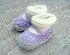 Knitting PATTERN BABY Booties All in One Baby Mary by ceradka