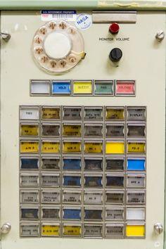 NASA's Mission Control PABX  communications panel.