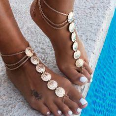 #coconutlane #footchain #boho #style #inspo #coin #poolside