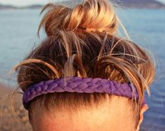No-slip woven headband from a t-shirt and shelf liner!