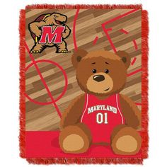 "Maryland Terrapins NCAA Half Court Baby 36""x 46"" Triple Woven Jacquard Throw"