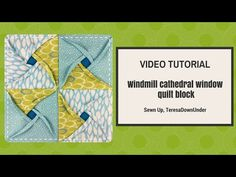 Video tutorial:  Windmill cathedral window quilt block - YouTube
