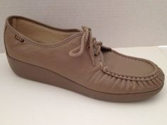 SAS Shoes Womens Size 12 Narrow Beige Lace Up 12N Oxford Made in USA | eBay