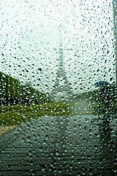 Rainy Day in Paris, France.Paris is crying. Cozy Rainy Day, Rainy Night, Rainy Days, Rainy Mood, I Love Rain, No Rain, Rain Storm, Tour Eiffel, Sound Of Rain