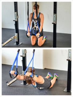 Use a suspension trainer (like a TRX or Jungle Gym Straps) for a great core workout. Ab Wheel Workout, Trx Ab Workout, Trx Full Body Workout, Trx Abs, Abs Workout Video, Abs Workout Routines, Abs Workout For Women, Ab Workouts, Trx Core Exercises