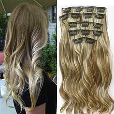 extensions cheveux clips blond