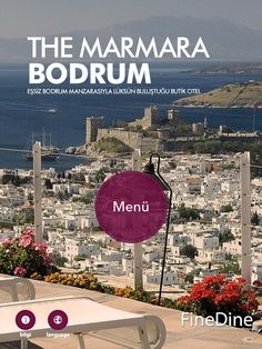 iPad Restauant Menus in multiple languages available in The Marmara Bodrum Restaurants.