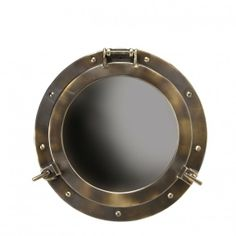 Buy Authentic Models Small Brass Porthole Mirror Online From Occa-Home Nautical Mirror, Nautical Home, Nautical Bath, Nautical Interior, Nautical Design, Small Walkin Shower, Porthole Mirror, Brass Mirror, Cottage Style Homes