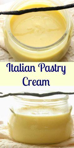 Italian Pastry Cream an easy Italian vanilla cream filling recipe the perfect filling for any tarts pies or cakes.  A simple delicious Italian classic.anitalianinmykitchen
