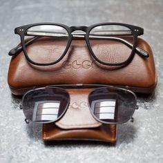 Brooks Matte Black Clip-On Sunglasses by Garrett Leight