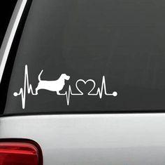 Basset Hound Unique HeartBeat Decal