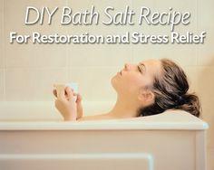 Bath Salts DIY for Homemade Relaxing Baths