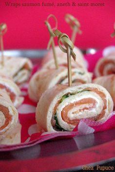 Wraps au saumon fumé, saint moret & aneth