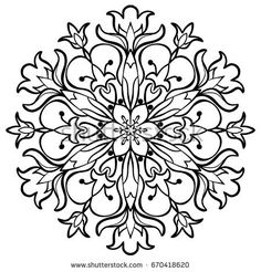 Flower Mandala. Decorative round ornaments. Anti-stress therapy patterns. Weave design. Yoga logos, backgrounds for meditation poster. coloring pages for adults, invitations, prints, textiles, tattoo