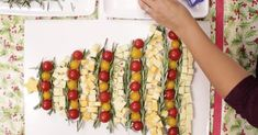 Make A Christmas Tree Cheese Platter For Your Next Holiday Party! via LittleThings.com
