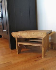 Step Stool--golden Oak--wood Step Stool, Bench Stool, Stool, Farmhouse Stool…