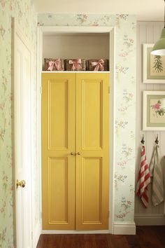Alcove cupboard in old converted chimney breast Decor, Painted Cupboards, Alcove Cupboards, Bedroom Cupboard Doors, Room Paint, Bedroom Cupboards, Room, Tongue And Groove Walls, Room Decor